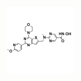 CUDC-907, PI3K/HDAC dual inhibitor